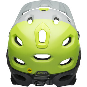 Bell Super DH MIPS Helmet matte/gloss dark gray/bright green/black